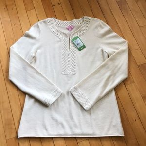 Lilly Pulitzer Farrow Sweater tunic 100% cashmere